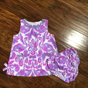 Lilly Pulitzer Baby Dress with Diaper Cover